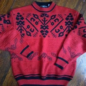 Vintage Nordic Fair Isle Wool Sweater size s